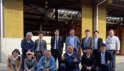 千葉県木材市場協同組合「モクイチ」を見学しました